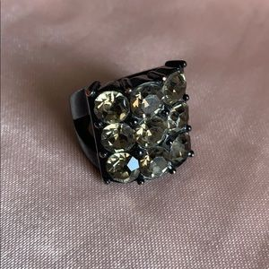 Guess Jewelry - Black and Crystal Ring